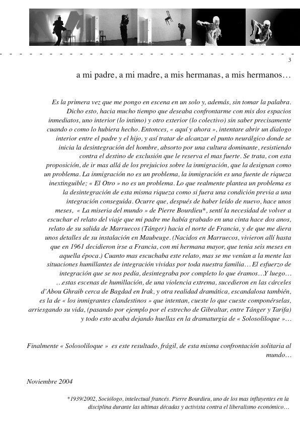 Libreto actuación Alexandre Fernandez